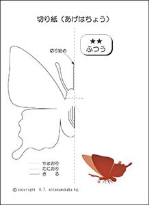 アゲハ蝶の型紙