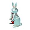 銀のウサギ(超 立体どうぶつ切り紙)