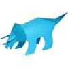 恐竜(トリケラトプス)