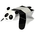 ぴょんぴょんパンダ(遊べる切り紙)